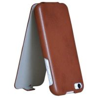 Mobile phone PU leather flip top case cover for iphone 5c