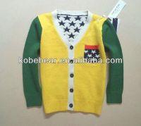 new style children sweater boy knitted garment cardigan stars