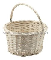 wejoin white wicker flower basket