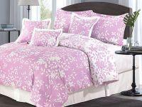 Pink Color 75GSM Microfriber Bedding Comforter Set