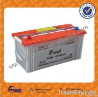 12V 100Ah rechargeable dry charged car battery