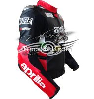 Aprilla Black Racing motorcycle leather jacket