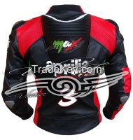 Aprilla Black Racing motorcycle leather jacket