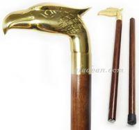 Brass Eagle Head Walking