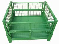 Foldable Industrial Metal Storage Basket