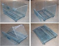 Wire Warehouse Cages Steel Mesh Stillages Stackable Metal Bins