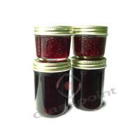Glass Mason jars with screw metal cap