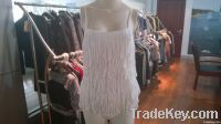 2014 LADIES KNITTED VEST WITH FRINGLE