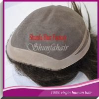 Shunfa good quality cheap human hair toupee for man