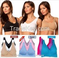 NEW PASTEL COLORS 3 PCS SEAMLESS GENIE BRA with PADS