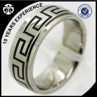 titanium rings with carve finished for men