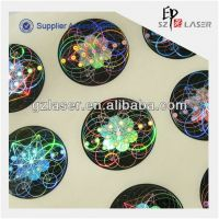 2014 popular high quality hologram brand sticker