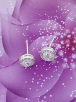 Silver Stud Earrings 925 italy