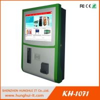 Touch Screen Payment Kiosk / Self Service Payment Kiosk with credit card reader / Cash Validator Payment Kiosk