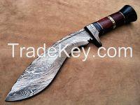 Damascus Kukri Knife 15 Inches, Twisted Pattern