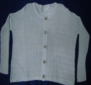 Round Neck Front Button Sweater