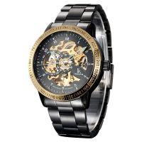 New 2014 fashion skeleton automatic mechanical watch men wrist watch
