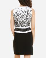Gabardine/Cotton and Confetti and Sleeveless Shift Dress