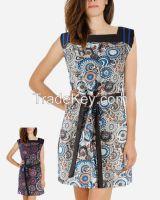 S16DR8- Morrocan Full Print Shift Dress  S16DR8- Morrocan Full Print Shift DressS16DR8- Morrocan Fu