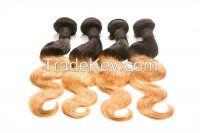 Ombre Color 6A Brazilian Virgin Hair Weaves 4Pcs/Lot Bundles