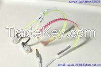 New fashion zipper earphone with mic color-changing in the sunlight earphone