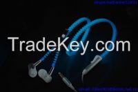luminous zipper earphones headphones glowing earbuds with mic tangle free and noise cancelling