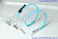 zipper earphone with mic color-changing with temperature headphone for mobile phone computer as gift for boys and girls