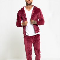 Latest design wholesale custom velour tracksuits men