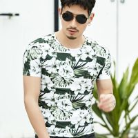 Hot Round Neck Short Sleeves Fancy Printed T-Shirt