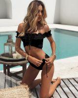 Hot Sale Attractive Style Seersucker Swimwear Boutique Hot Sexy Bikini