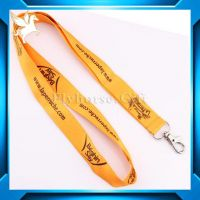 2014 promotional cheap fashion polyester lanyard
