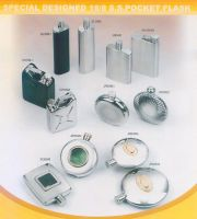STAINLESS STEEL HIP / POCKET FLASK IN SPECIAL DESIGN