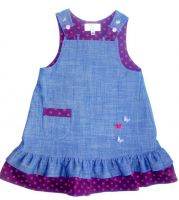 Organic cotton jeans pinafore for girls