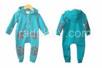 Cotton fleece kids sweatsuit / overall