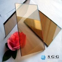 Good quality low price 4mm reflective glass bronze