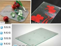 High quality tempered glass cutting board with ISO CCC CE