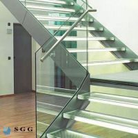 Good quality staircase glass safety handrail