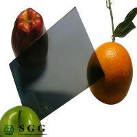 Top quality 4mm dark gray reflective glass