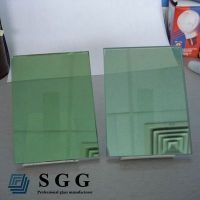 Top quality 4mm green reflective glass