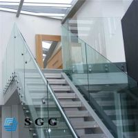 Good quality stair handrail glass price