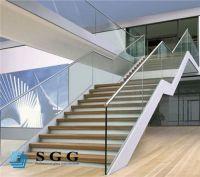 Good quality custom stair rail glass