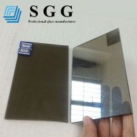 Top quality 4mm grey reflective glass