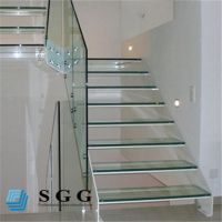 Good quality stair railings laminated glass