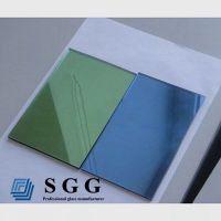Top quality 4mm dark green reflective glass