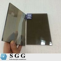 Top quality 4mm light grey reflective glass