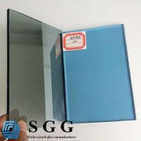 Top quality 4mm light blue reflective glass