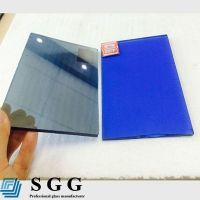 Top quality 4mm dark blue reflective glass