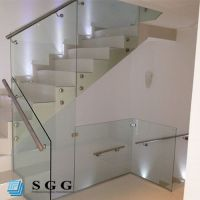 Good quality stair railings with glass panels