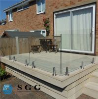 good quality competitive price tempered glass deck railing