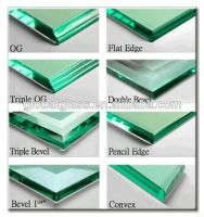 Hot sell tempered glass with arrised edge